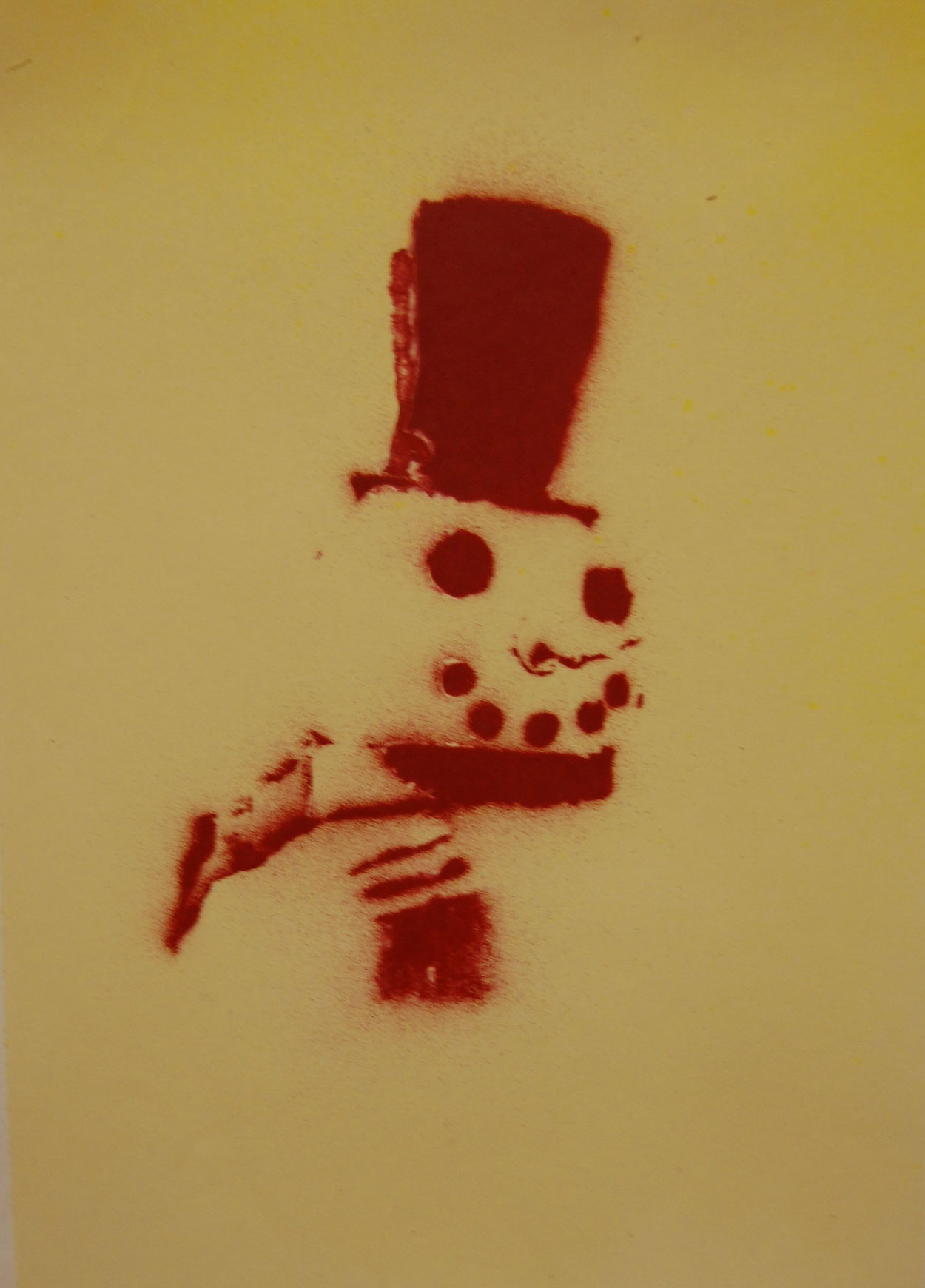 stencil and spray paint - Art Christmas Cards